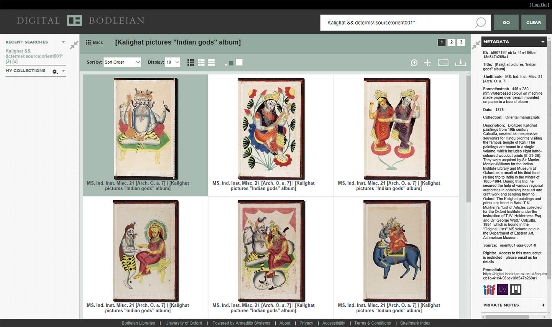 Digital Bodleian Search Page