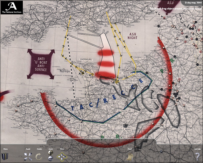 D-Day Map Zoomed