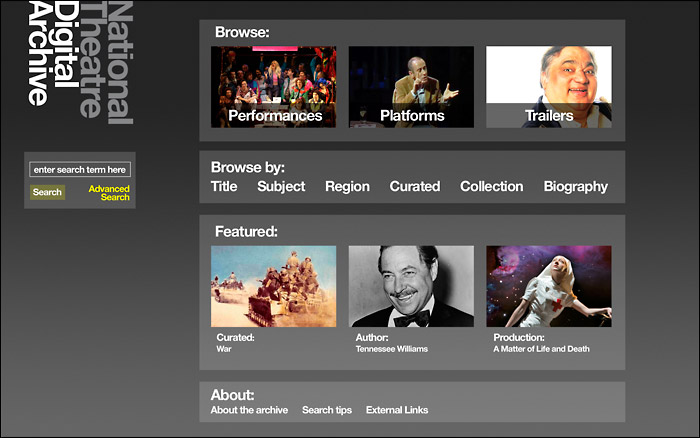 National Theatre Digital Archive