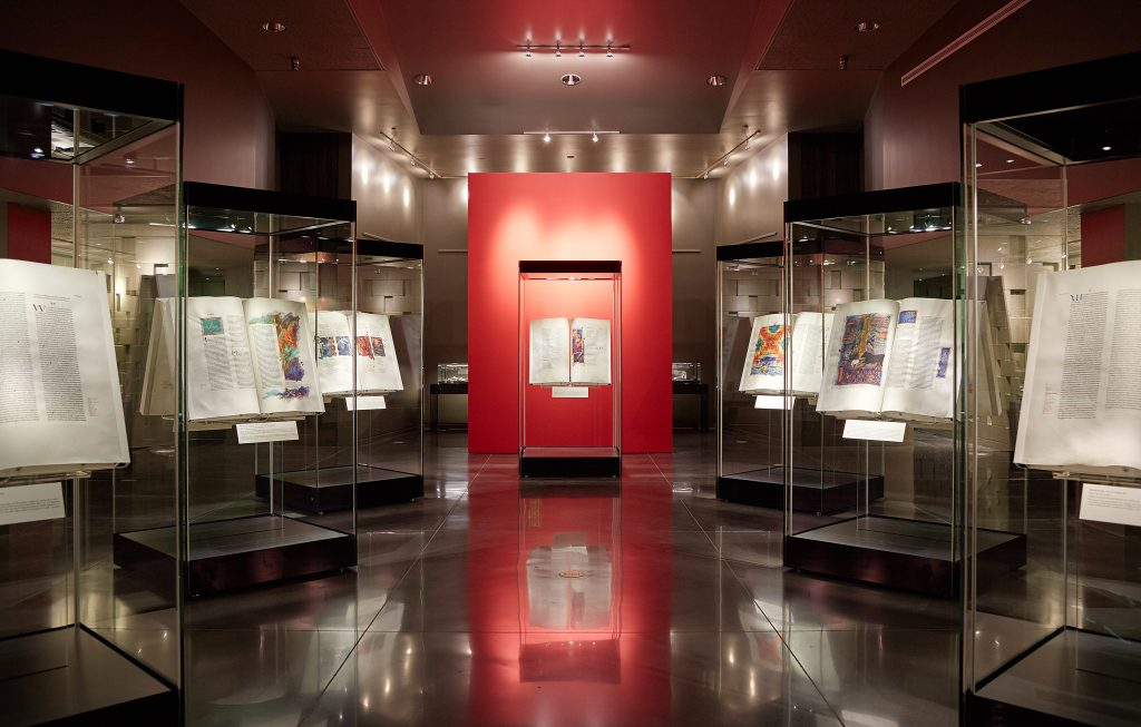 The Saint John's Bible Gallery, Hill Museum & Manuscript Library, Saint John's University, Minnesota, USA